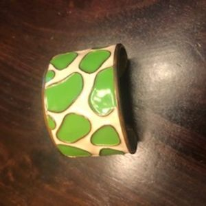 Lilly Pulitzer Vintage Green spotted Cuff bracelet